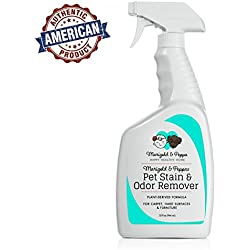 Plant Based Stain and Odor Remover | Eco-Friendly Carpet and Hardwood Floor Enzyme Cleaner | Safe for Pets and Kids | Dog and Cat Urine Remover | Marigold and Peppa's Pet Stain Remover