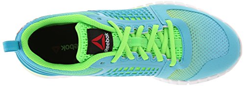 Reebok Neon Blue Green Women's White Solar ffx41
