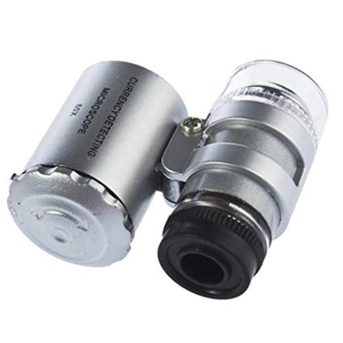 Homiki 60x Loupe Microscope Réglable Mini Jewelers Poche Éclairante Tl13FJcK