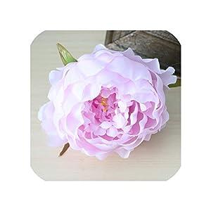 50Pcs Artificial Flowers Heads Hydrangea Peony Flower Heads Silk Flowers Wall Wedding Decoration,Light Purple 36