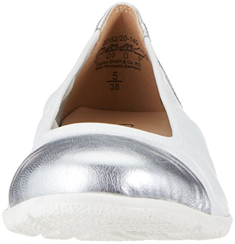 Caprice Women's 22152 Ballet Flats, Black White (White Perl Mul 140)
