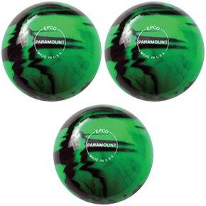 EPCO Duckpin Bowling ball- 3 Paramountグロー – グリーン&ブラックボール B00H6885BA  4 7/8 inch- 3lbs. 8 oz.