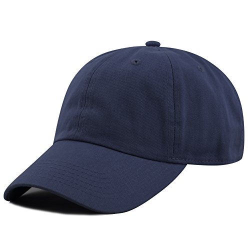 THE HAT DEPOT 300N Washed Low Profile Cotton and Denim Baseball Cap - Adjustable Blue Hat