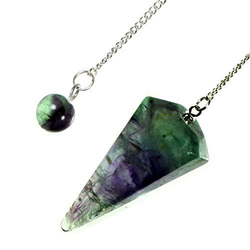 Rainbow Fluorite Crystal Pendulum
