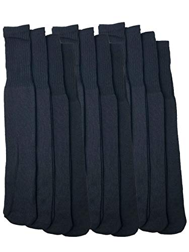 Mens Over The Calf Tube Socks Bulk Long Tube Socks Big and Tall Long 12 Pack ()