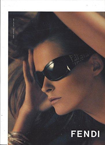 **PRINT AD** With Carmen Kass For 2005 Fendi Black Logo Sunglasses **PRINT - Sunglasses Carmen
