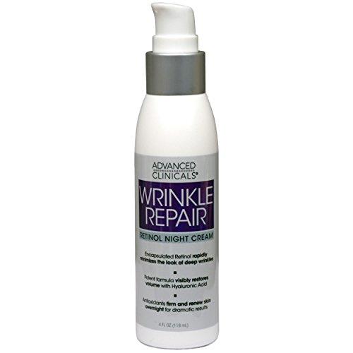 Advanced Clinicals Wrinkle Repair Retinol Night Cream 4 fl o