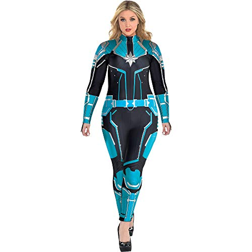 Costumes USA Captain Marvel Starforce Halloween Costume for Women, Superhero Jumpsuit, Plus Size, Dress Size 18-20 -