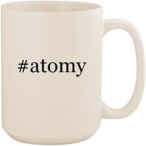 #atomy - White Hashtag 15oz Ceramic Coffee Mug Cup