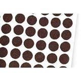 Heavy Duty Self-Self Adhesive Felt Pad Bumpers, 1/2'' Diameter, 1/8'' Height, Round, Brown, Pack of 1000