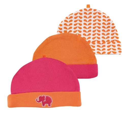 Yoga Sprout Caps 3-Pack, Pink Elephant