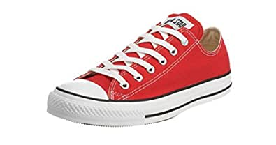 Converse Unisex Chuck Taylor All Star Oxfords Red 9 D(M) US