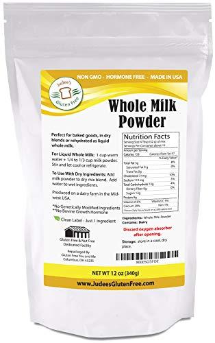 Whole Milk Powder (12 Oz): Non-GMO, Hormone Free USA Produced (2.5 lb Value size Also Available)