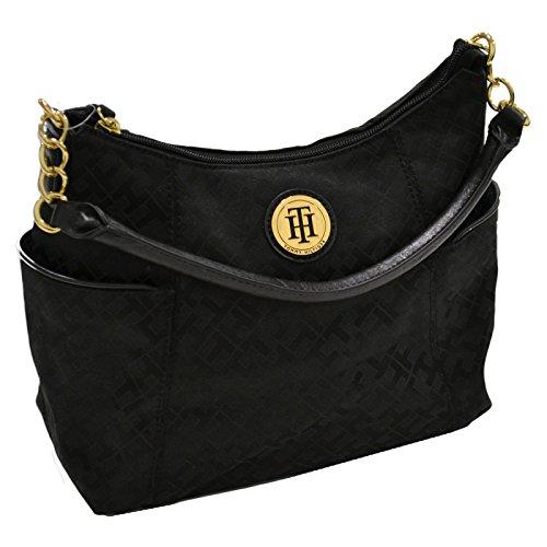 Tommy Hilfiger Women's Small Black Bucket Handbag