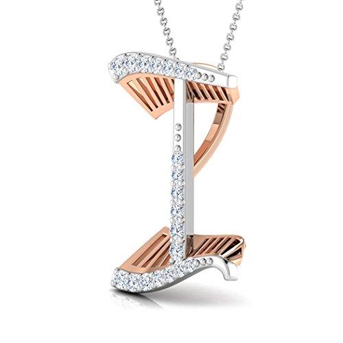 14K Or rose 0.08CT TW Round-cut-diamond (IJ | SI) Pendentif