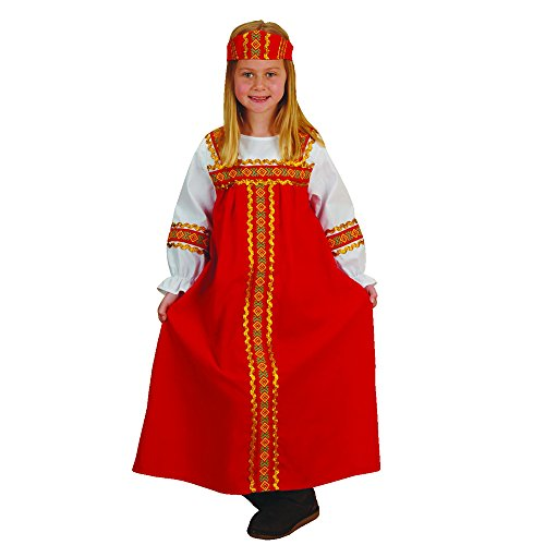 Russian Costume For Girls (Russian Girl Kids Costume - Fits Most Children Ages 3-6)