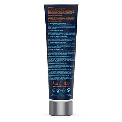 NO HAIR CREW Crema Depilatoria Íntima Premium - Extra Suave Hecha Para Hombres, 100 ml: Amazon.es: Belleza