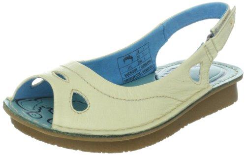Groundhog BIX 1GD100306 - Sandalias de cuero para mujer Blanco (Weiss (offwhite 012))