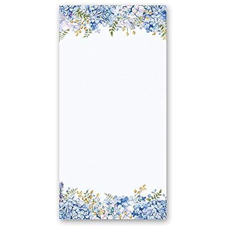 Carta da lettera decorati ORTENSIE BLU 20 fogli DIN A4