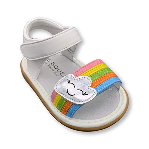 Wee Squeak Rainbow Sandal Toddler Squeaky Shoe Size 5