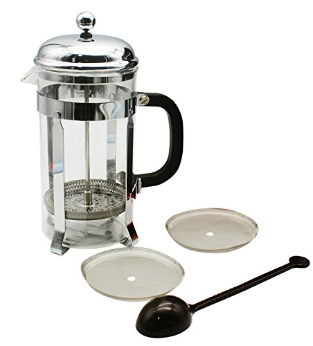 HEY~LIFE French Coffee Press - Stainless Steel Coffee Maker 34oz, 1L With 1 Spoon and 2 Filter by Hey~life (Image #2)