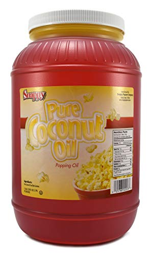 Snappy Popcorn Colored Coconut Oil, 1 Gallon (Best Oil For Popping Popcorn)