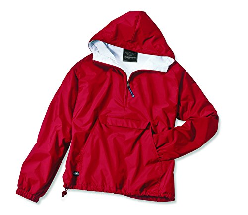 Charles River Apparel Women's Front Pocket Classic Pullover - Red, Large ()