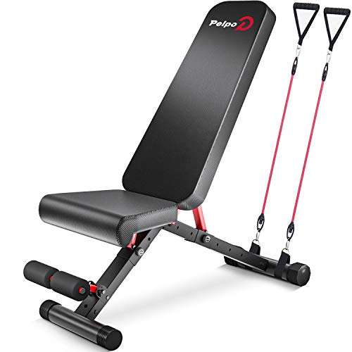 pelpo Weight Bench for Full Body Workout, Strength Training Bench Press in Home Gym, Decline Incline Adjustable Utility…