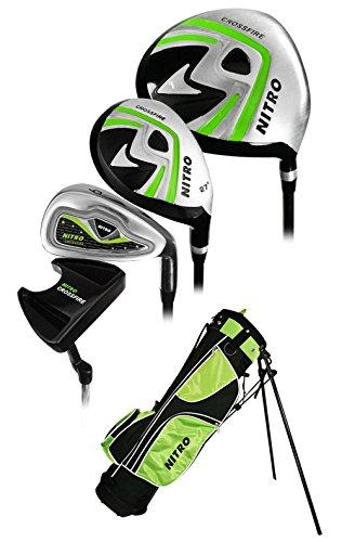 Nitro Golf Junior Crossfire 8 Piece Complete Set Bag (Ages 9-12) – DiZiSports Store
