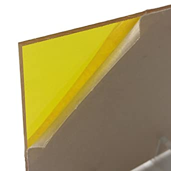 Yellow (2208) Transparent Acrylic Sheet 12 Inches x 24 Inches x  11 Inches  (1/8