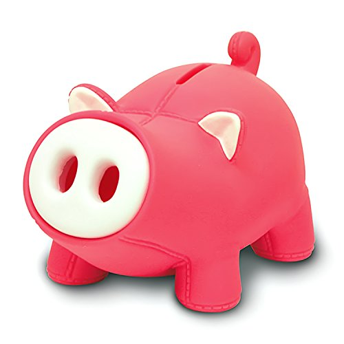 (Cute Pig Piggy Bank,Lovely Pig Bank Toy Coin Bank Decorative Saving Bank Money Bank Adorable Pig Figurine for Boy Girl Baby Kid Child Adult Pig Lover by DomeStar)
