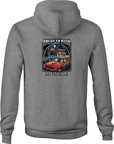 Dodge Zip Up Hoodie Charger Challenger Hooded Sweatshirt for Men - XL Gray