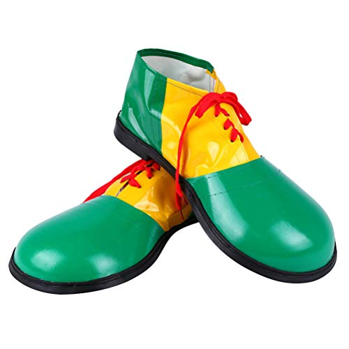 LUOEM 1 Pair Carnival Clown Shoes Boots Dress Unisex Costume Party Comedy Fancy Events Supplies (Green) ()