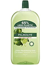 Palmolive Antibacterial Liquid Hand Wash Soap 1L, Odour Neutralising Lime Refill and Save, No Parabens Phthalates and Alcohol, Recyclable Bottle