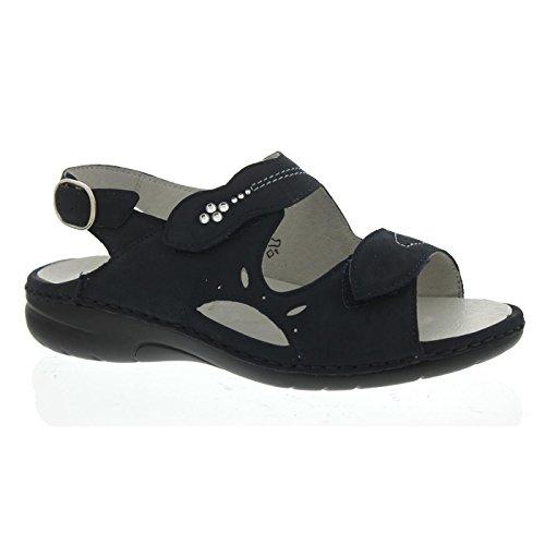 204018 Fashion Waldläufer Women's 191 Blue Sandals 217 B5wq1Cv5Z