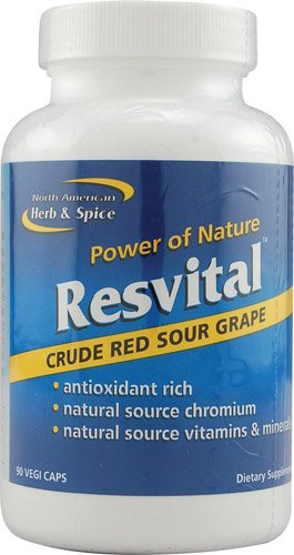 North American Herb & Spice ResvitalT Crude Red Sour Grape -- 90 Vegetarian Capsules - 3PC by North American Herb & Spice