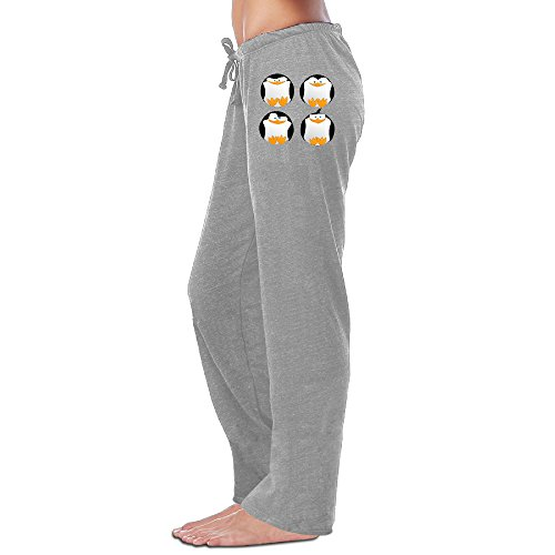 Price comparison product image Shehe Women's Chubby Cute Penguins Sweatpants Ash Size M