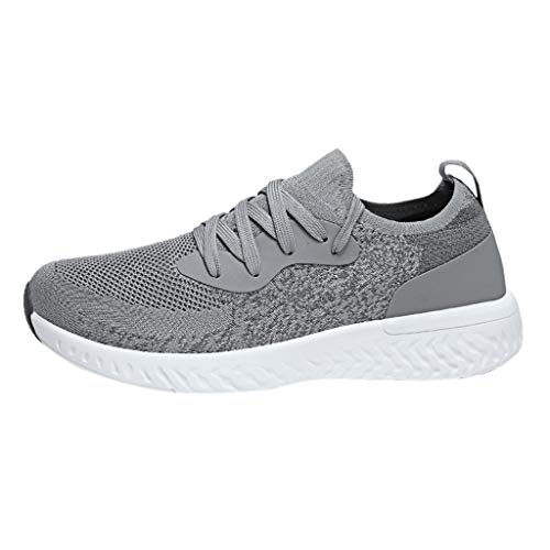 OrchidAmor Men Womens Fashion Flats Breathable Sport Shoe Lightweight Walk Running Sneakers 2019 Summer Swag Shoes Grey