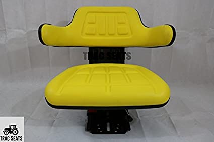 YELLOW JOHN DEERE 1020,1530,2020,2030,2040,2155 TRAC SEATS BRAND SUSPENSION TRACTOR SEAT (SAME DAY SHIPPING - GET IT FAST!! VIEW OUR TRANSIT MAP)