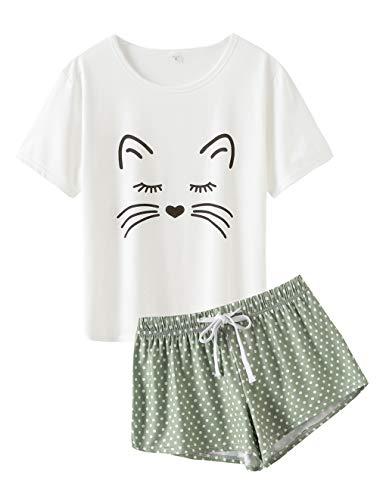 VENTELAN Summer Pajamas for Women 2 Piece