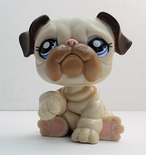 Bulldog #1765 - Littlest Pet Shop (Retired) Collector Toy - LPS Collectible Replacement Single Figure - Loose (OOP Out of Package & Print)