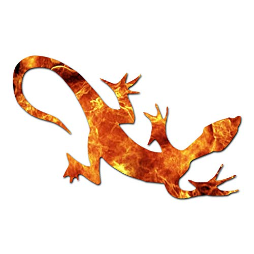 Tribal Lizard Gecko Anole - Vinyl Decal Sticker - 9.25