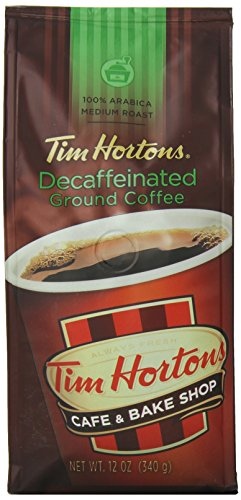 Tim Horton's 100% Arabica Medium Roast, Decaffeinated, Ground Coffee, 12 Ounce