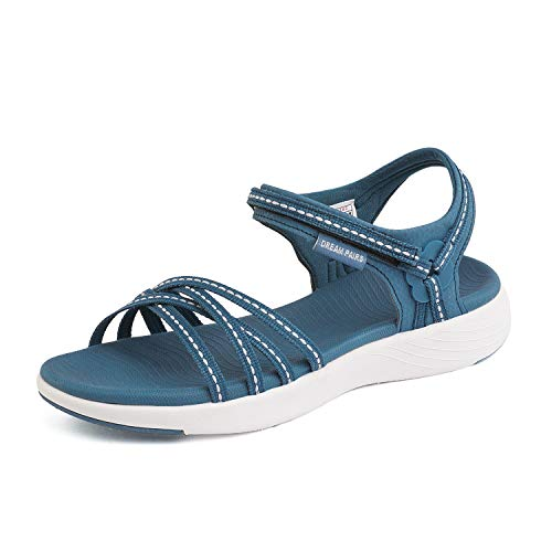DREAM PAIRS Womens Athletic Sports Sandals Lightweight Hiking Sandals Dark Blue Size 6 M US -