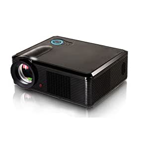HTP HD DIGITAL LCD PROJECTOR LED 30,000 Hrs 2000 lumens TV 1080P THEATRE Native Resolution:800 x 600 Black