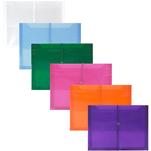 JAM Paper Plastic Expansion Envelopes with Elastic Band Closure - 2 5/8