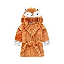 Toddlers/kids Hooded Animal Fleece Bathrobe Children's Pajamas Sleepwear