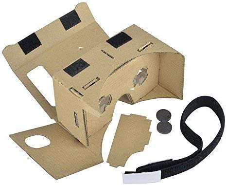 Google Cardboard,Virtual Real Store 3D VR Headsets DIY Virtual Reality Box Glasses with Clear Optical Lens and Comfortable Head Strap for All 4-6 Inch Smartphones(Starter DIY, 1 Pack) 41PfDbjp 2BRL