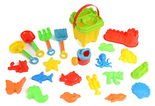 Review 23pc Kids Beach Toys