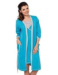 Zeta Ville - Womens Maternity Nursing Nightdress / Robe - MIX & MATCH - 772c